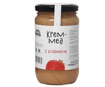 Крем мед с клубникой 500гр