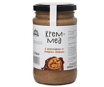 Крем мёд с шоколадом и грецким орехом 500гр