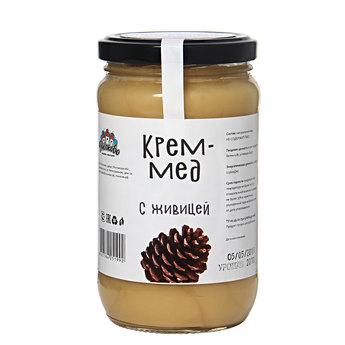 Крем мёд с живицей 500гр